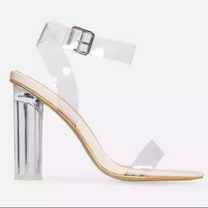 ASOS Clear Strap Block Heels